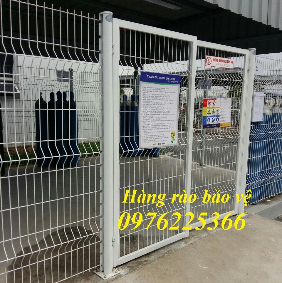 Nhận thiết kế, thi công lắp đặt hàng rào lưới thép hàn chập, hàng rào mạ kẽm