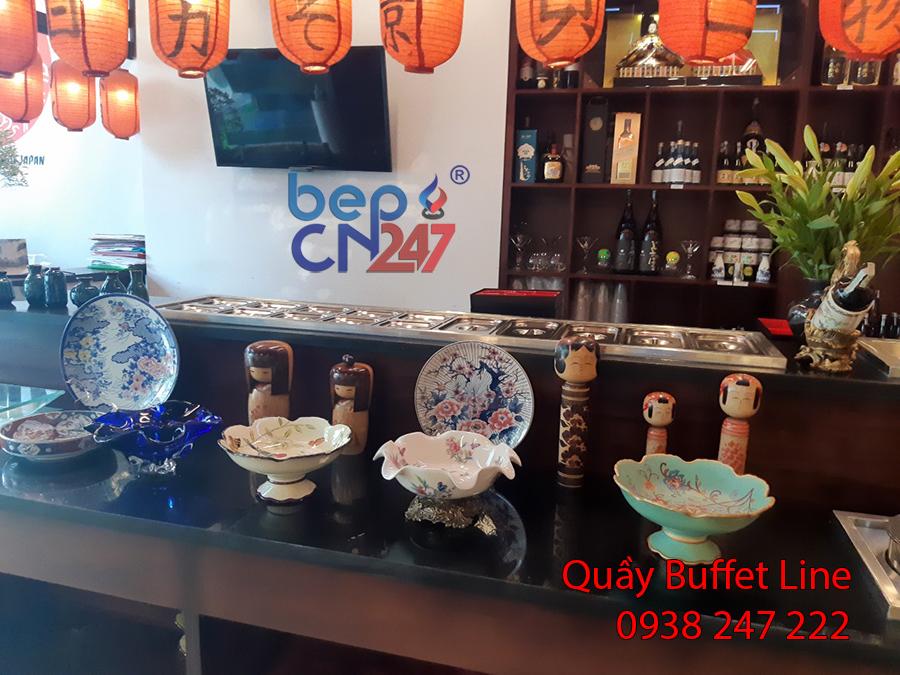 Quầy buffet line Hà Nội