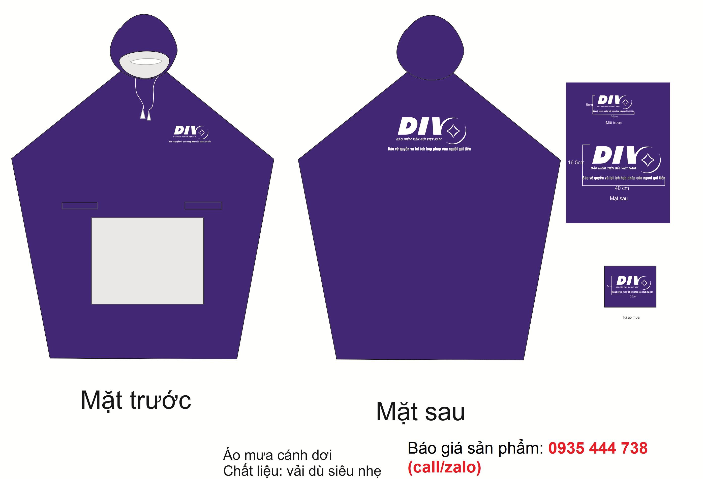 May áo mưa theo yêu cầu khách hàng Đà Nẵng