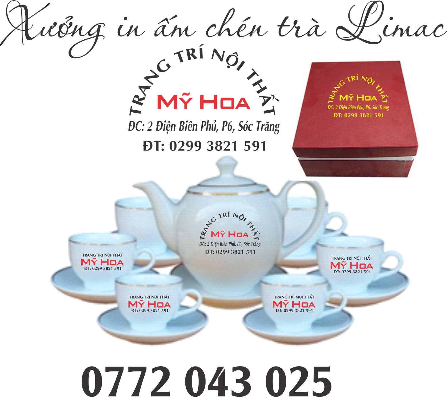 Xưởng in ấm chén trà làm quà tặng Tết