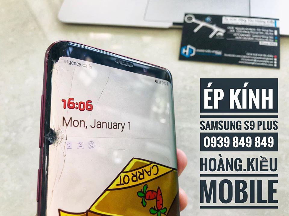 Ép Kính Màn Hình Cong Samsung S9 Plus Tại BRVT
