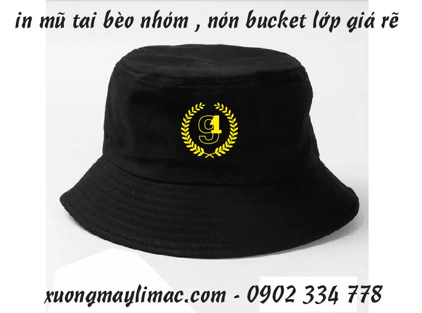 Xưởng may in nón nhóm, nón lớp, nón vải giá rẻ