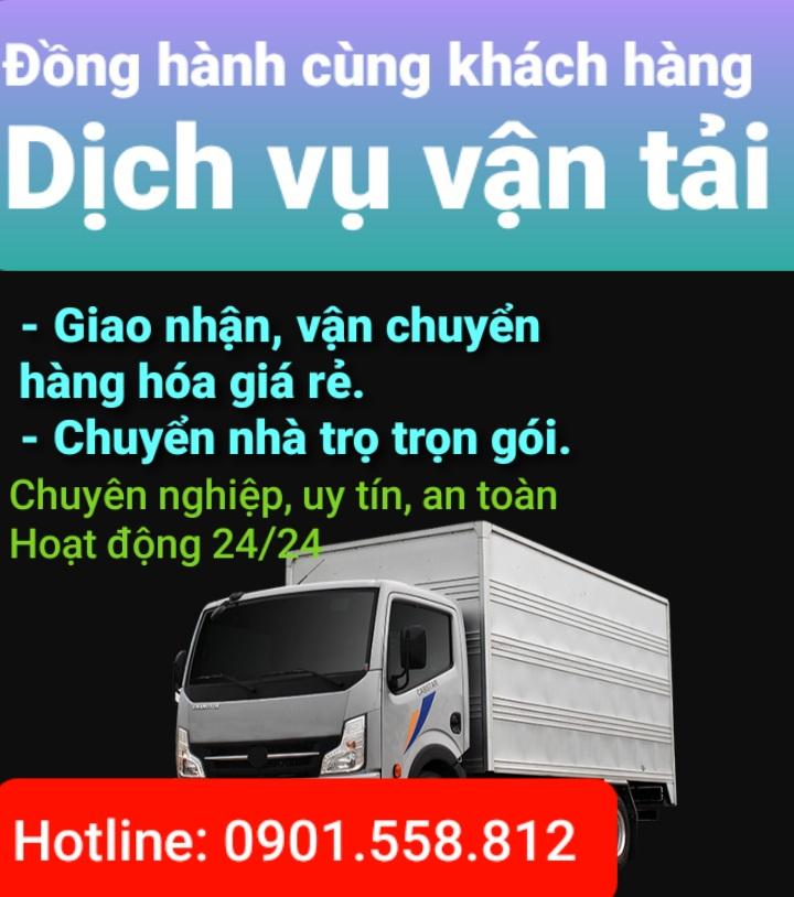 Chuyên nhận các dịch vụ vận tải như dọn nhà, phòng và các loại hàng hóa