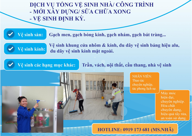 Dịch vụ vệ sinh công nghiệp tại Phan Rang - Ninh Thuận