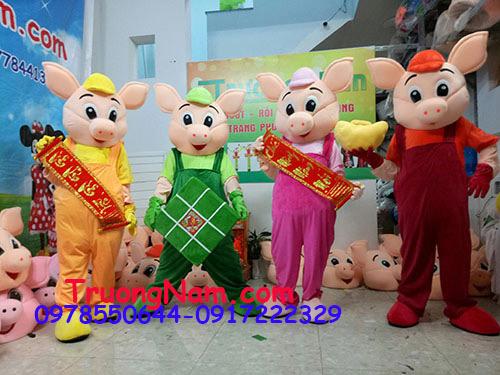 Mascot heo yếm, linh vật quảng cáo, quảng bá sản phẩm