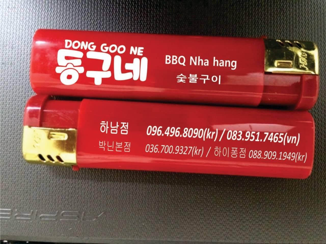 Nhận in logo lên máy lửa tại Hà Nội, in máy lửa quảng cáo