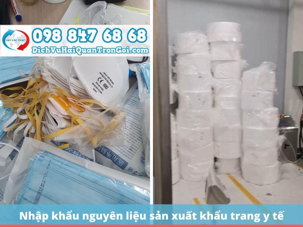 Nhập khẩu nguyên liệu sản xuất khẩu trang y tế kháng khuẩn