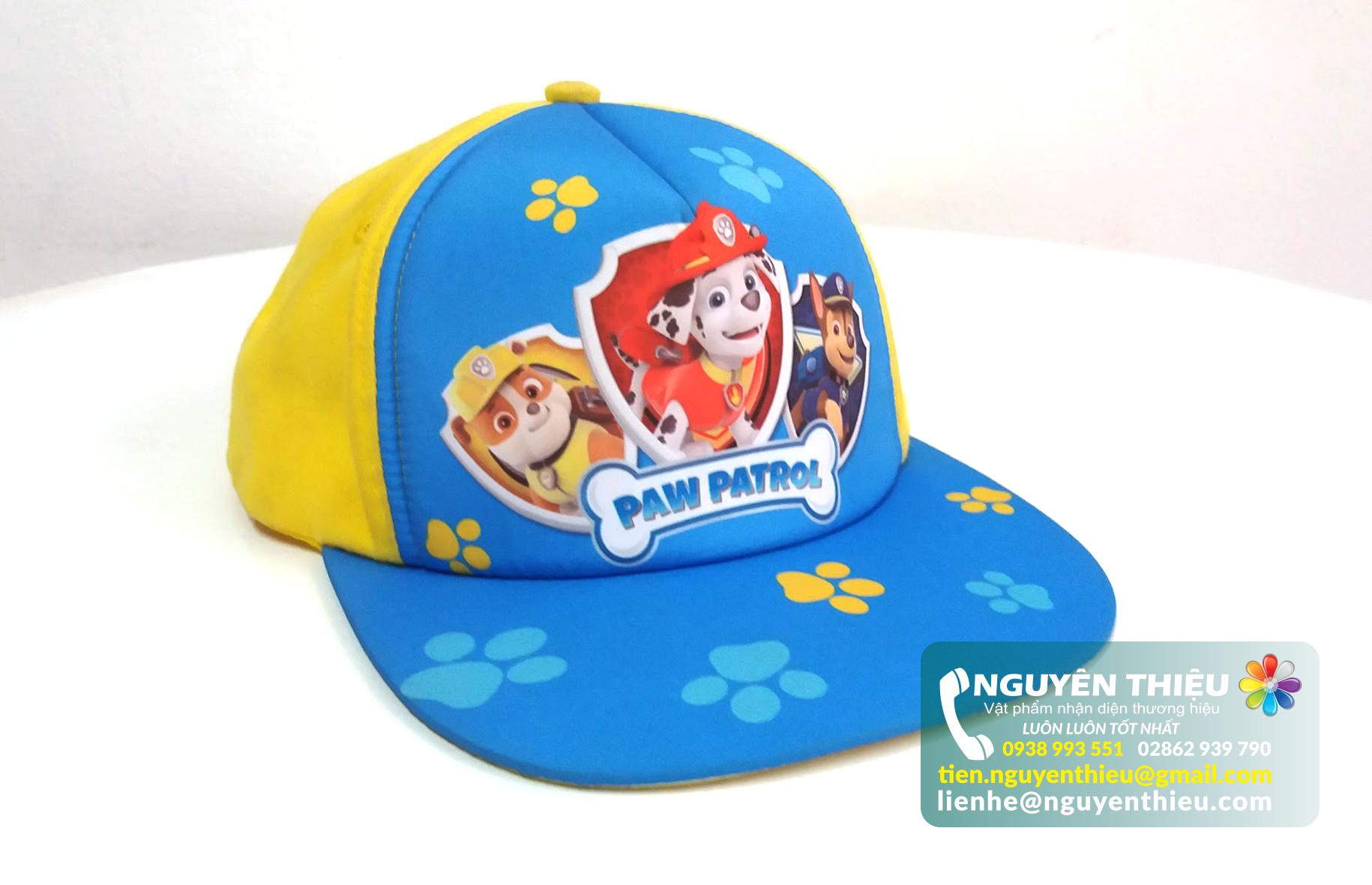 May mũ lưỡi trai trẻ em đẹp giá rẻ, may mũ trẻ em thời trang, may mũ đồng phục trẻ em