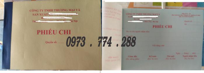 In phiếu than toán, phiếu biên nhận, phiếu thu, phiếu chi, nhập, xuất, order, hóa đơn, giấy cacbon của nhật