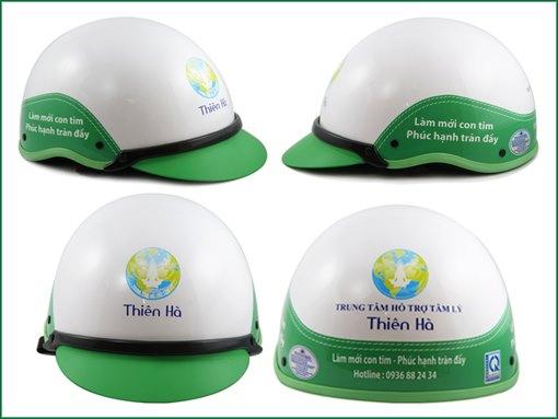 Mũ bảo hiểm in logo công ty - Qùa tặng cho doanh nghiệp