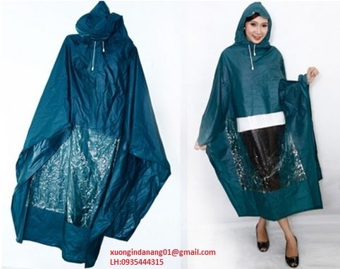 Cơ sở sản xuất, in gia công áo mưa theo logo công ty