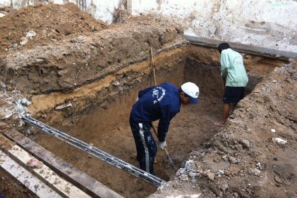 Đơn vị chuyên đào móng nhà, đường cống, hố ga, hầm cầu tại TP. HCM