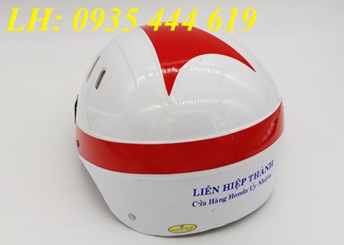 Mũ bảo hiểm in logo quảng cáo theo yêu cầu tại Quảng Ngãi