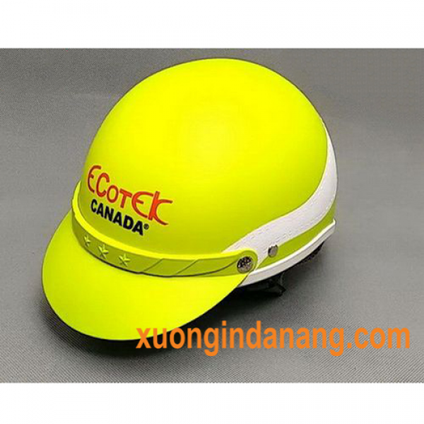 In logo cty lên mũ bảo hiểm - quà tặng cho nhân viên, khách hàng
