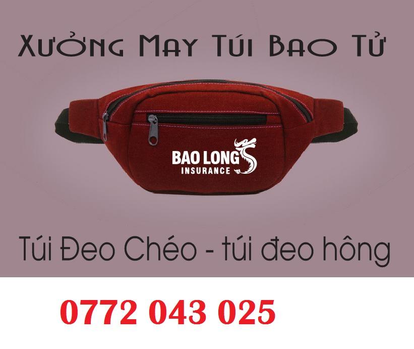 Xưởng May Túi Bao Tử In Logo , Túi Đeo Chéo Thêu Logo , Túi Đeo Bụng In Logo