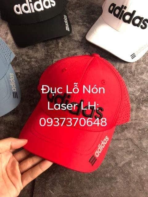 Đục lỗ vải Laser may nón