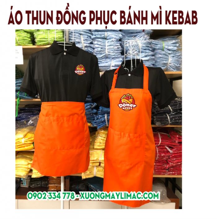 Xưởng may áo đồng phục nhân viên bánh mì kebab thổ nhĩ kỳ
