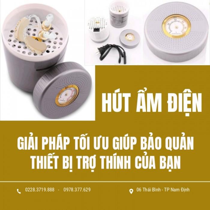 Bảo quản máy trợ thính tốt hơn bằng hút ẩm điện