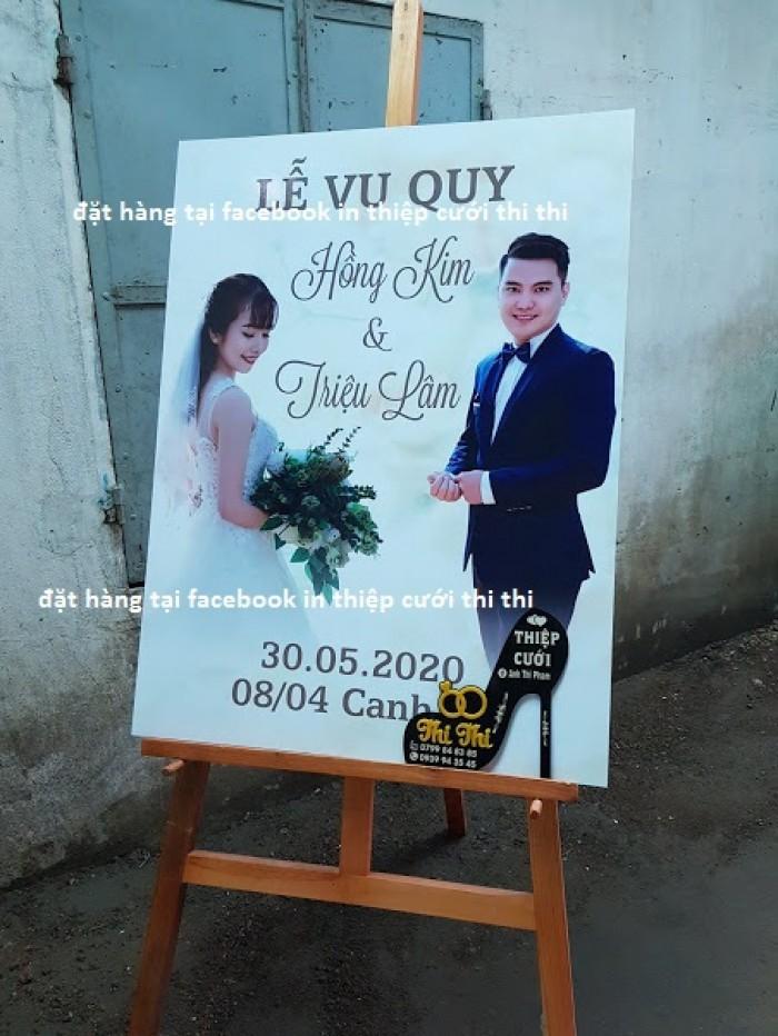 Bảng tên cô dâu chú rể để cổng đám cưới, bảng in tên cd cr dựng cổng Cần Thơ