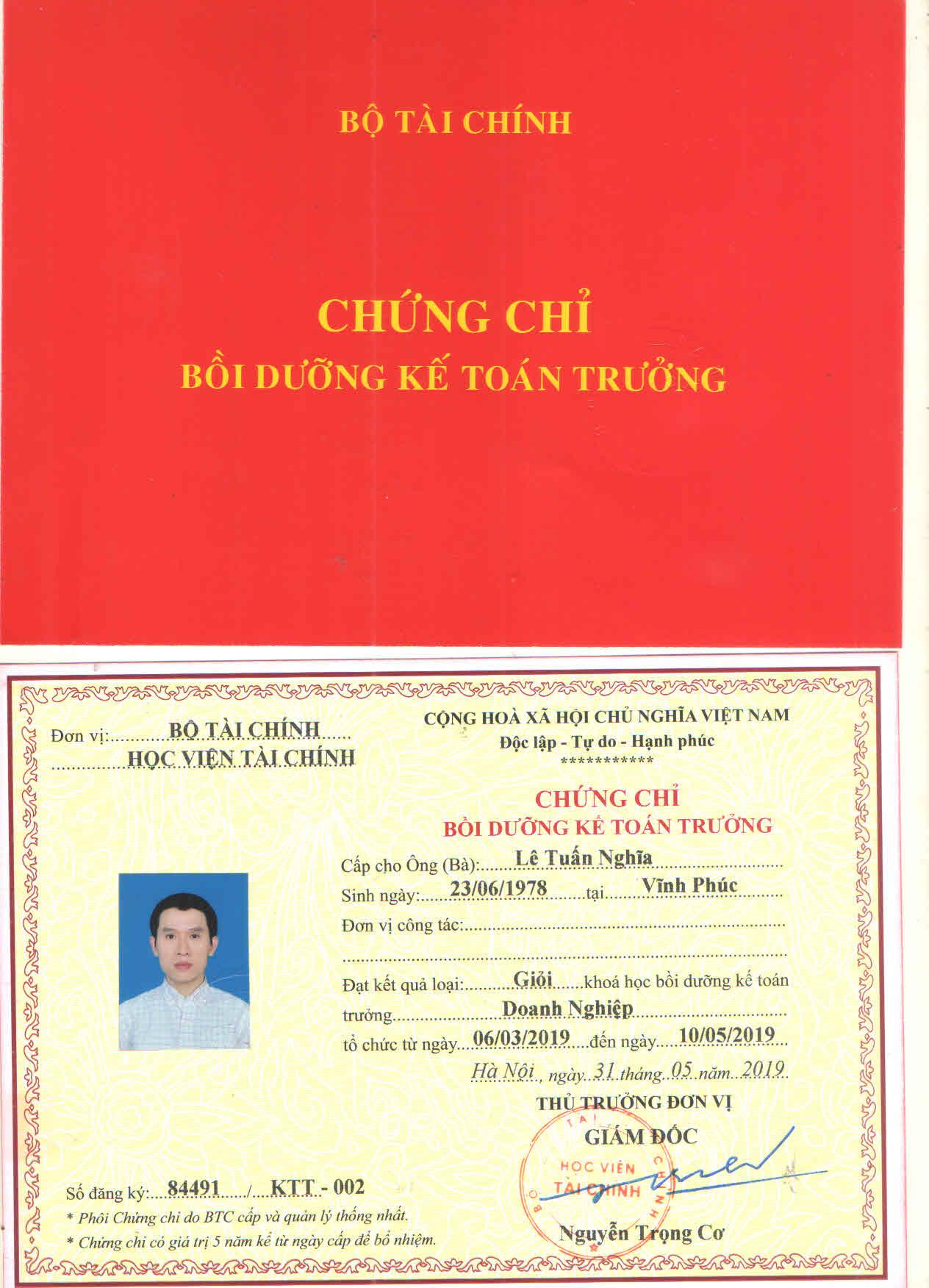 Học kế toán trưởng tại Nghệ An