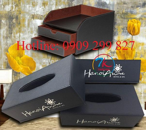 Xưởng sản xuất hộp da, hộp gỗ bọc da, sản xuất hộp quà tặng bằng da, nhận đặt hộp khăn giấy bọc da