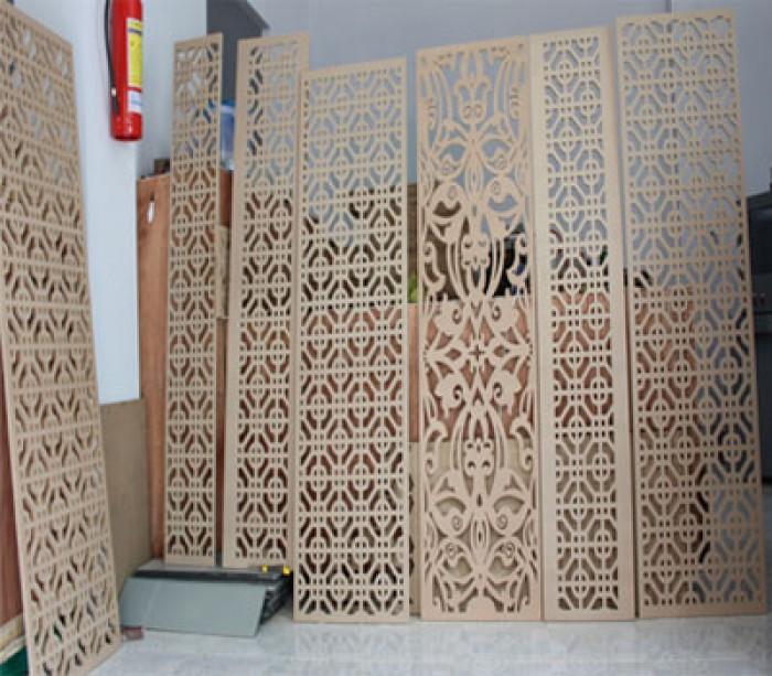 Cắt khắc vách ngăn CNC nghệ thuật giá rẻ tại Hà Nội