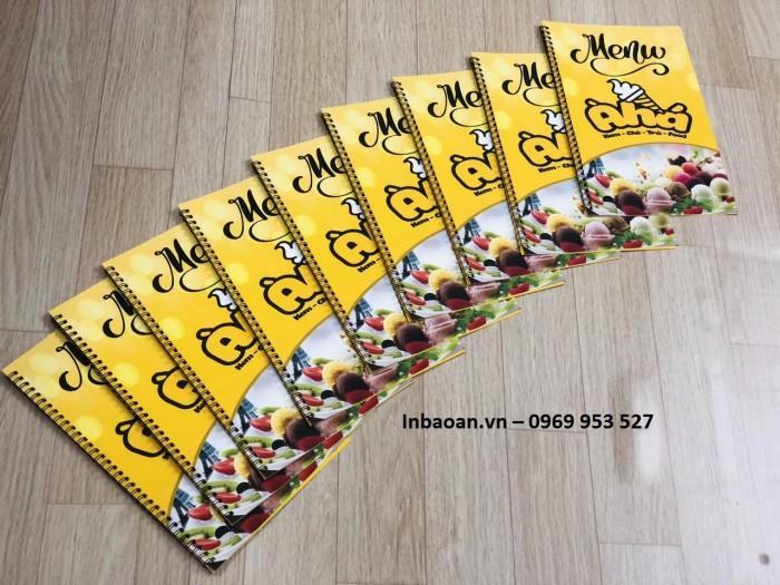 Dịch vụ in menu nhà hàng giá rẻ uy tín tại Hà Nội