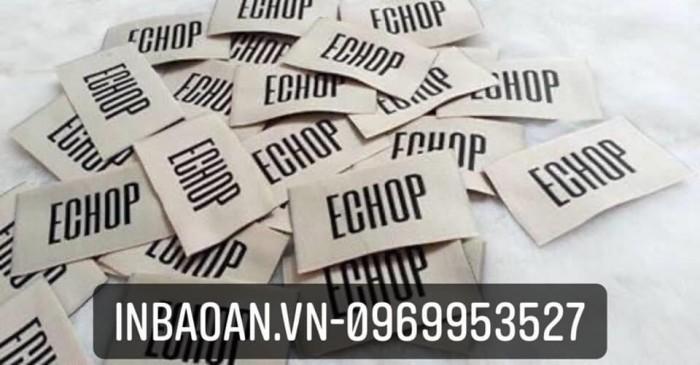 Xưởng in mác vải, mác quần áo giá rẻ tại Hà Nội