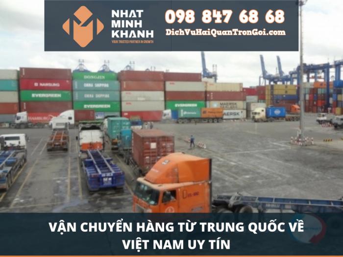 Vận chuyển hàng từ Trung Quốc về Việt Nam uy tín
