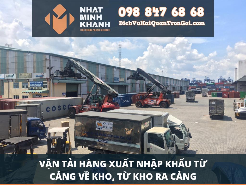 Vận tải hàng xuất nhập khẩu từ cảng về kho, từ kho ra cảng