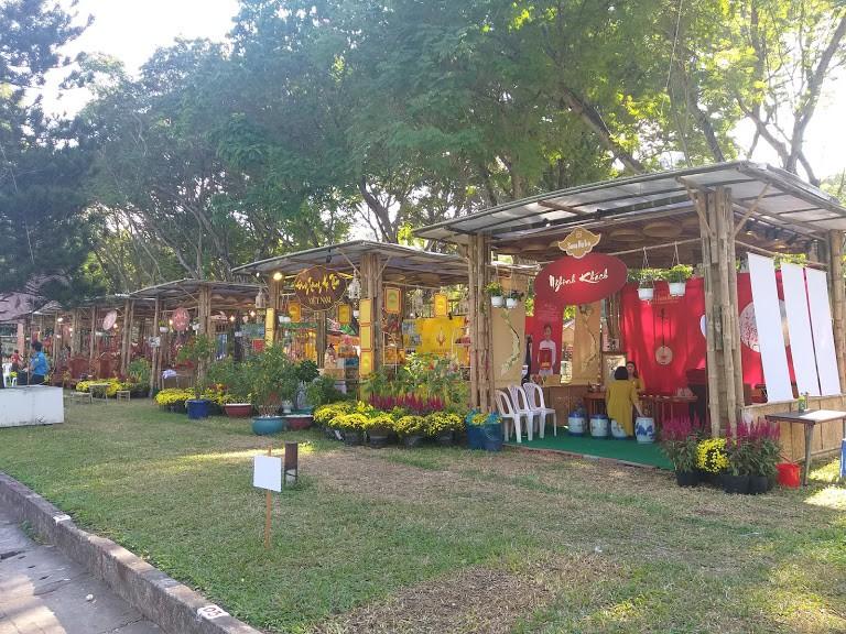 Cho thuê gian hàng tre nứa, cho thuê nhà tre triển lãm, cho thuê gian hàng tiêu chuẩn bằng tre xanh, gian hàng hội chợ thân thiện môi trường