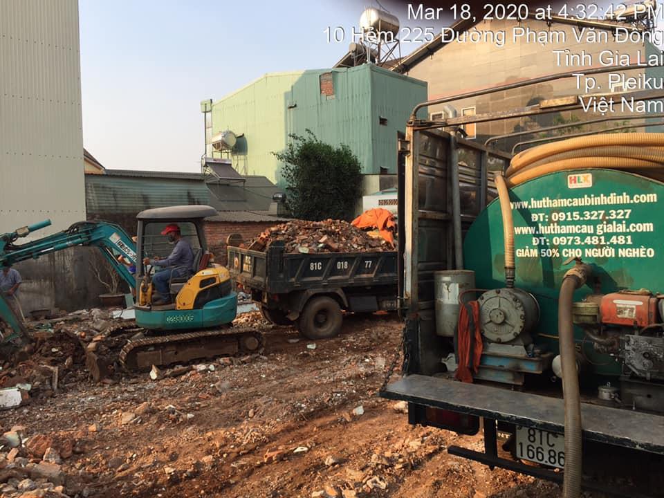 Dịch vụ hút hầm cầu Minh Hoàng Quy Nhơn - Pleiku- Kon Tum