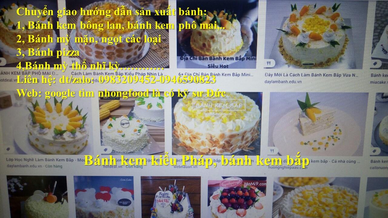 Hướng dẫn mở tiệm bánh và dạy nghề