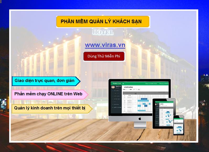 Phần mềm quản lý khách sạn - Online 24/24