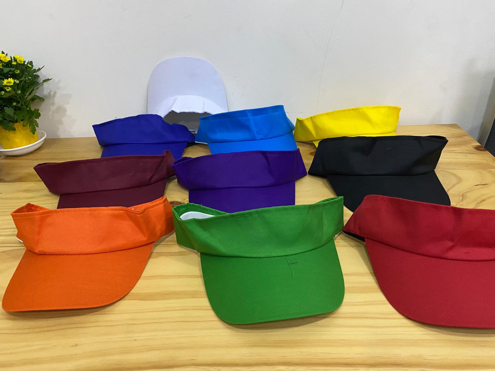 Xưởng may nón không chóp đồng phục nhân viên quán full 10 màu