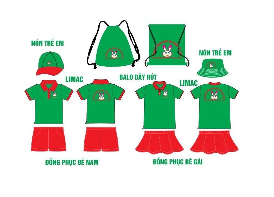 Thiết kế đồng phục học sinh mẫu giáo