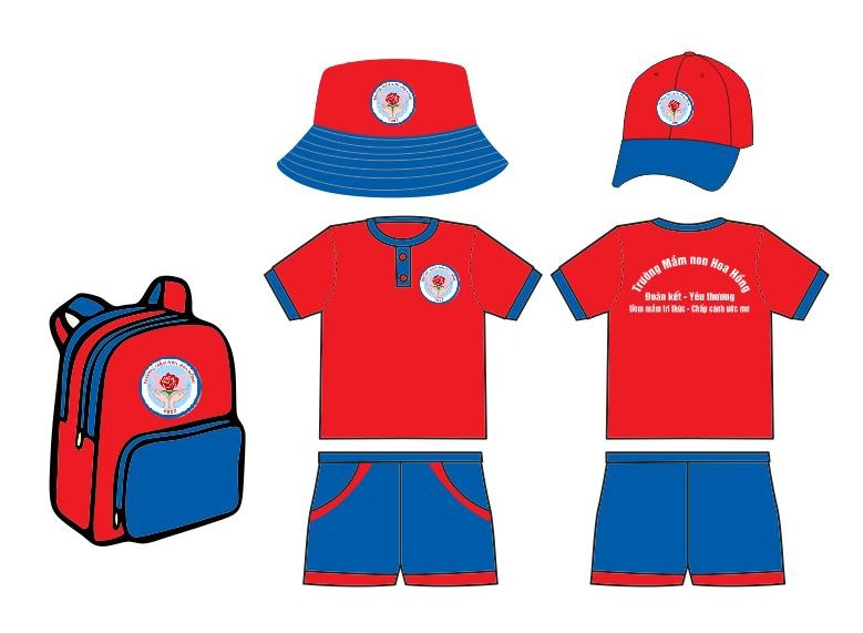 Đồng phục học sinh mẫu giáo theo thương hiệu trường TPHCM