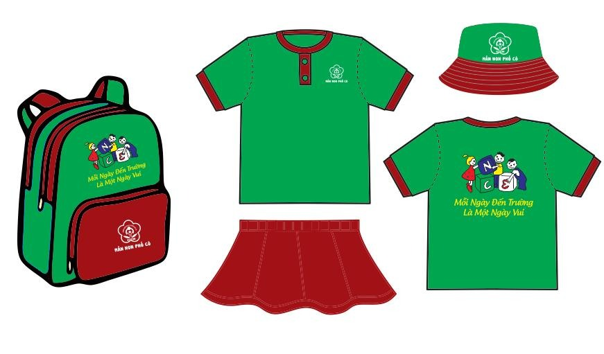 Thiết kế đồng phục học sinh mẫu giáo theo thương hiệu trường TPHCM