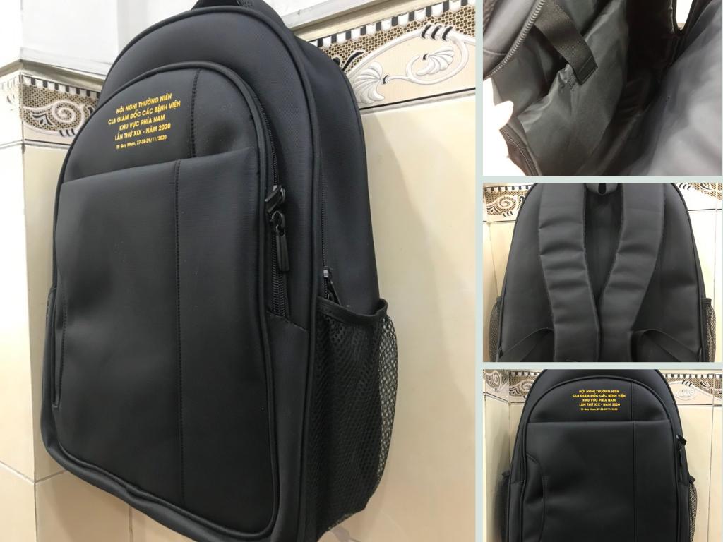 Xưởng may balo laptop giá rẻ - đặt may balo laptop công ty chuyên nghiệp in thêu logo theo yêu cầu TPHCM