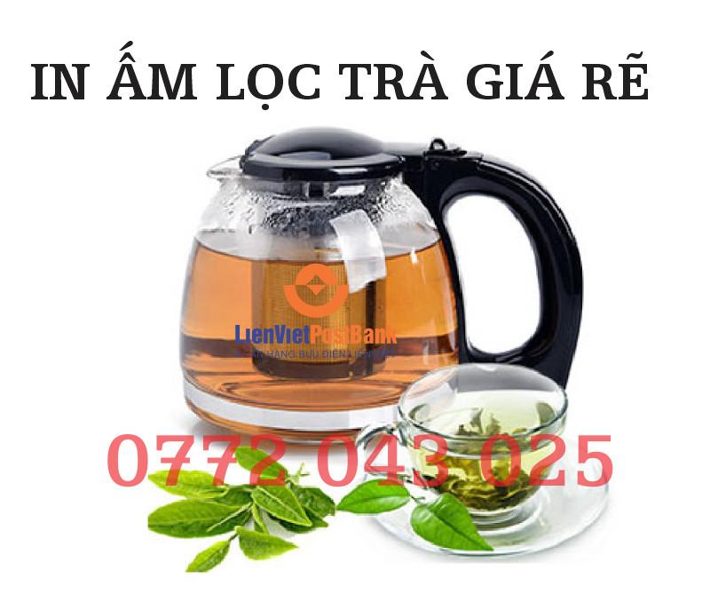 In ấm trà lọc - bình lọc trà in logo