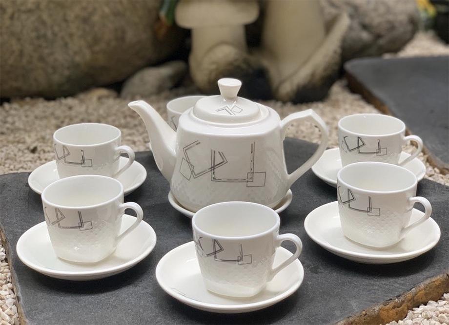 Bộ ấm chén, bộ ấm trà quà tặng in logo giá rẻ siêu đẹp từ TPHCM
