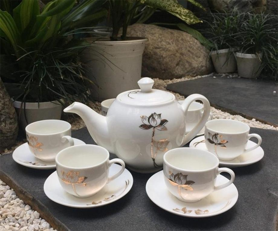 Giá in ấm chén quà tặng - bộ ấm chén, bộ ấm trà quà tặng in logo