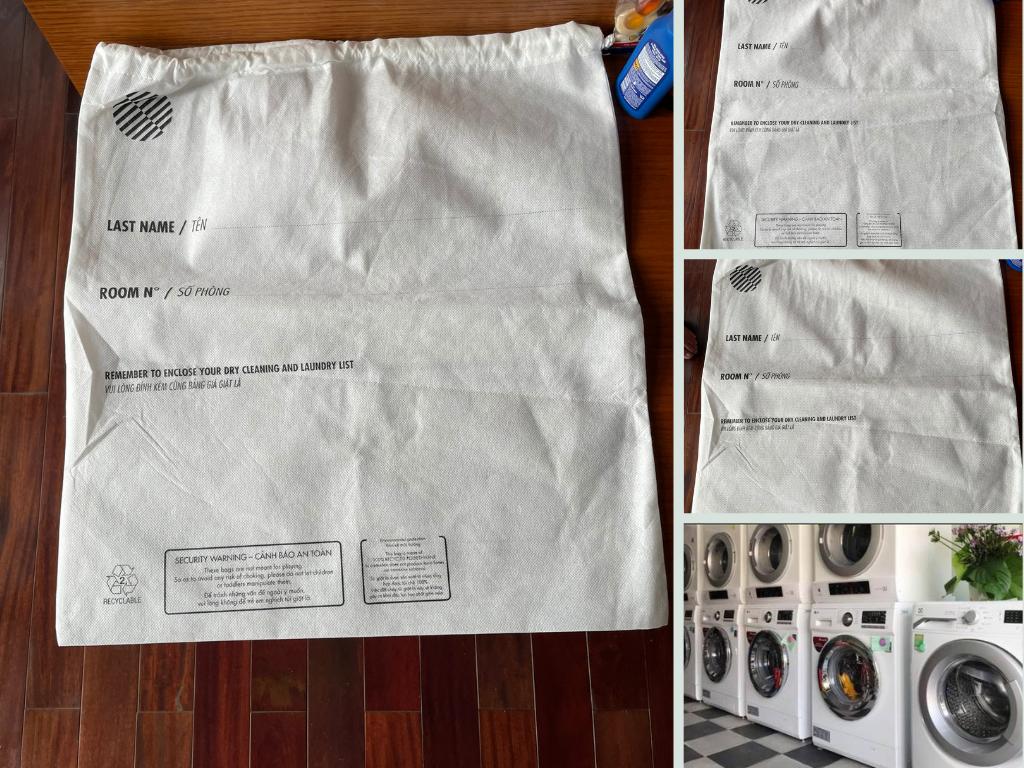 Xưởng may túi đựng đồ giặt khách sạn dây rút in logo thương hiệu khách sạn, hotel TPHCM