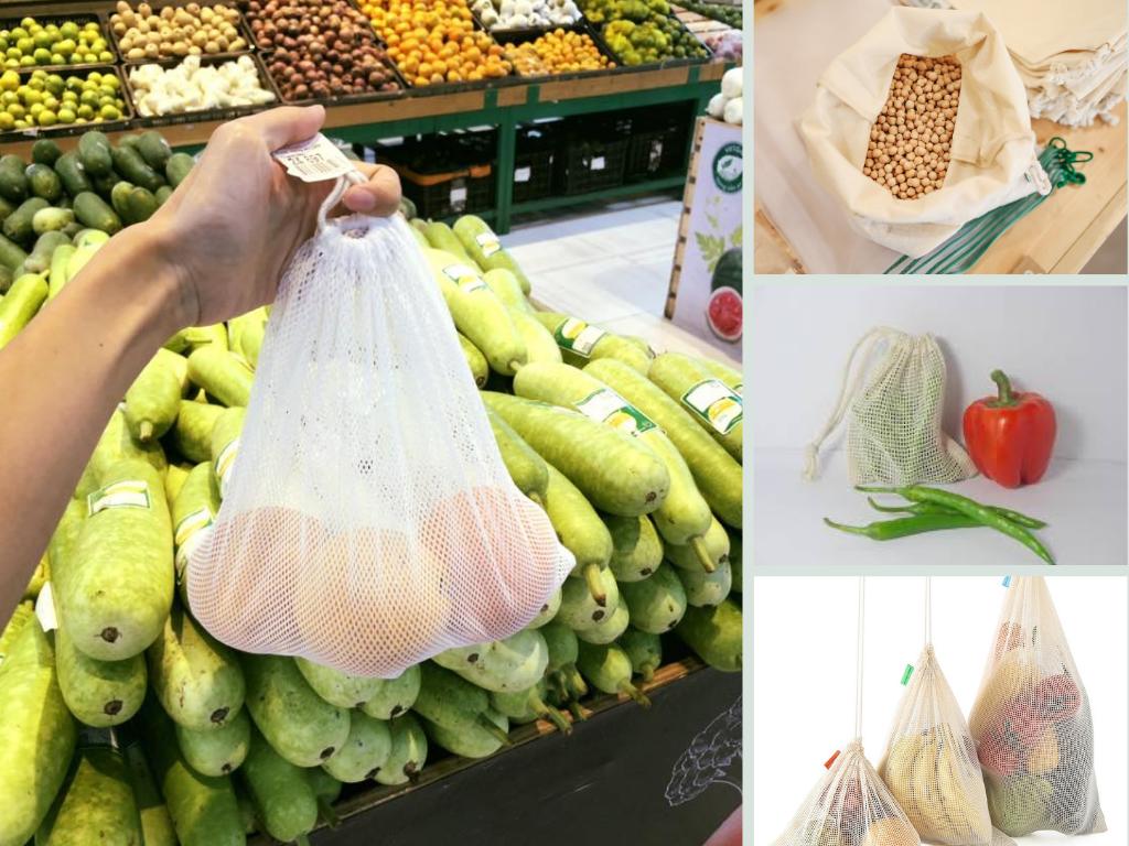 Xưởng may túi lưới dây rút đựng đồ khô, trái cây, hành tỏi, hoa quả, rau củ, cà phê, kẹo, hoa khô, ngũ cốc từ vải lưới, cotton, voan