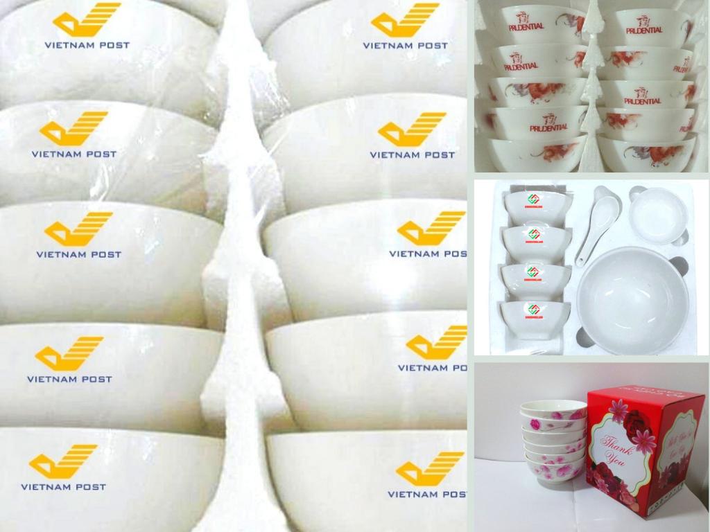 Báo giá in chén dĩa quà tặng - bộ chén sứ, bát đĩa in logo giá rẻ siêu đẹp từ TPHCM