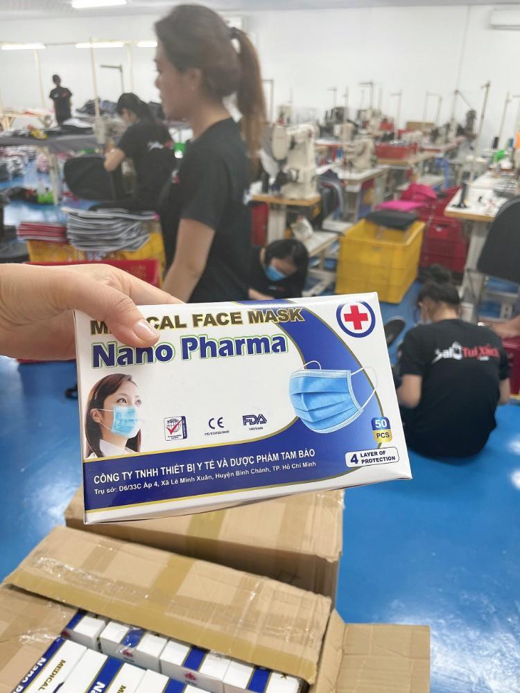 Nhận sản xuất  khẩu trang cung cấp cho công ty, nhà thuốc, Bệnh viện theo đơn