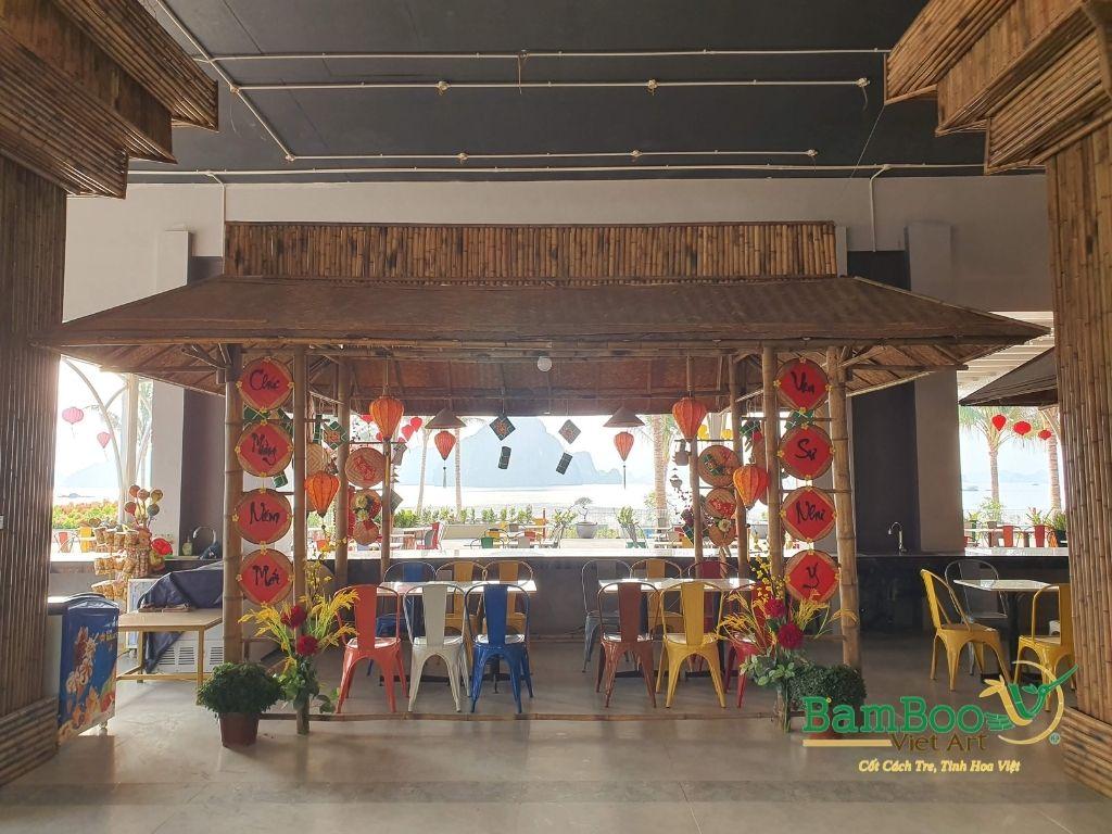 Thiết kế công trình tre nhà hàng dân gian và đương đại - Ảnh: 2