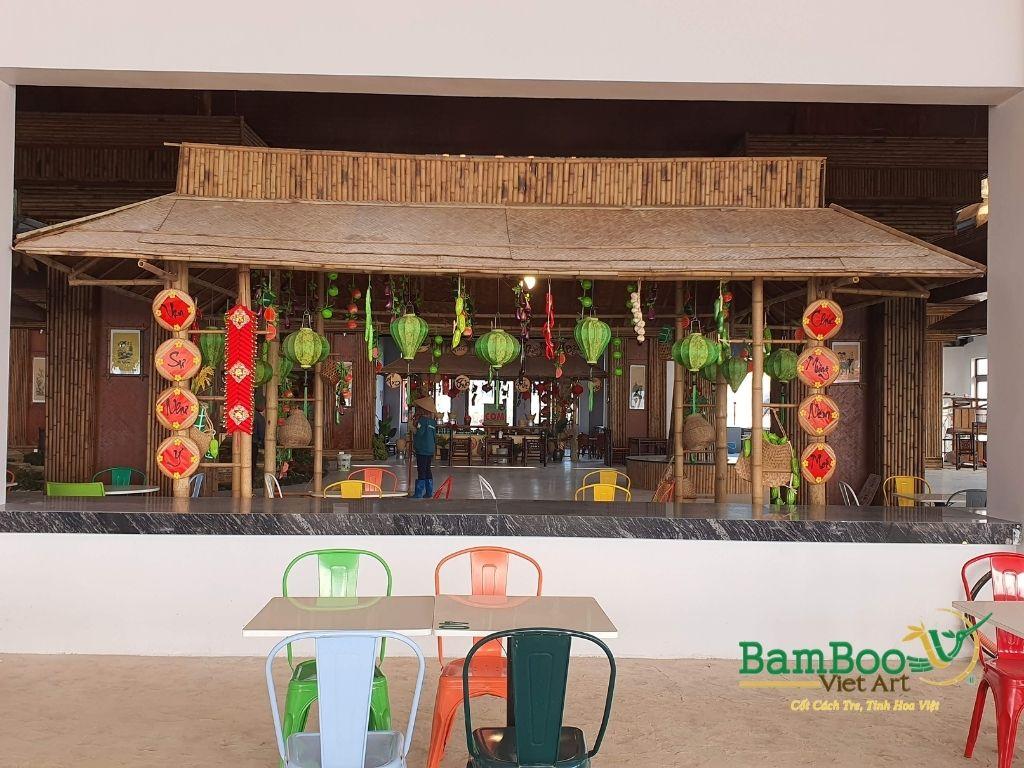 Thiết kế công trình tre nhà hàng dân gian và đương đại - Ảnh: 15