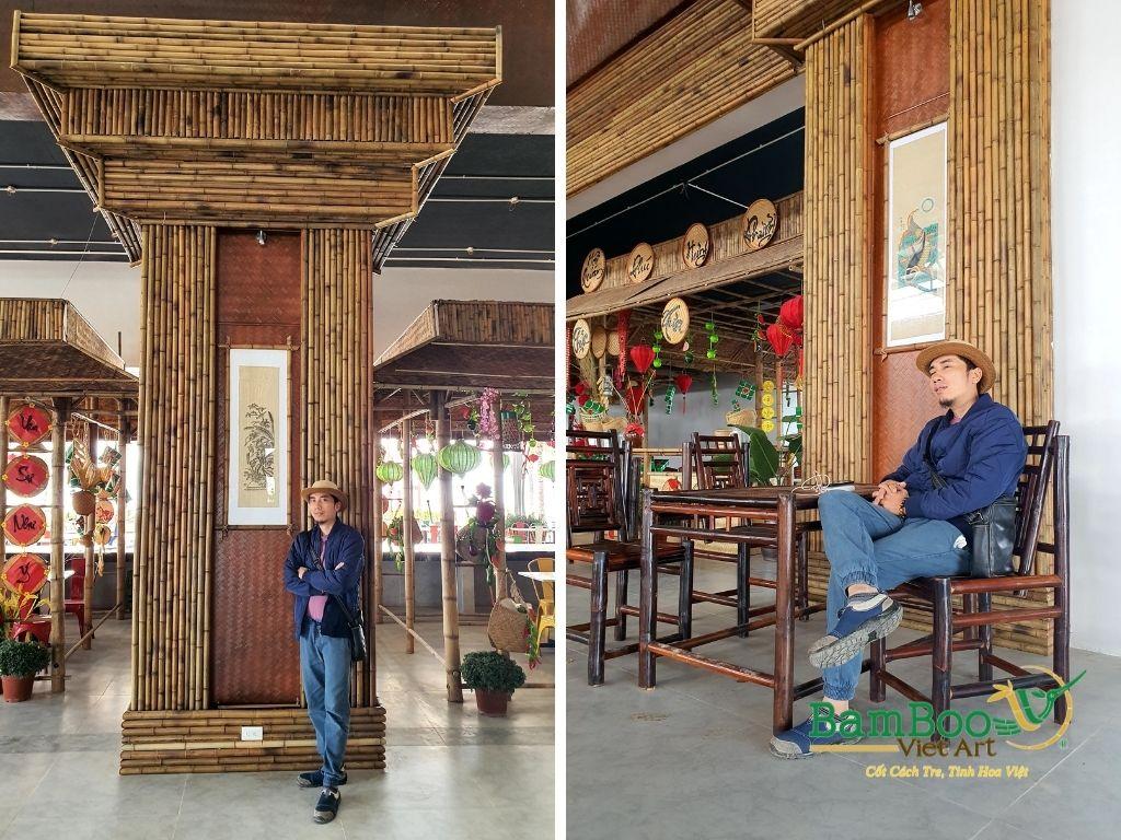 Thiết kế công trình tre nhà hàng dân gian và đương đại - Ảnh: 39