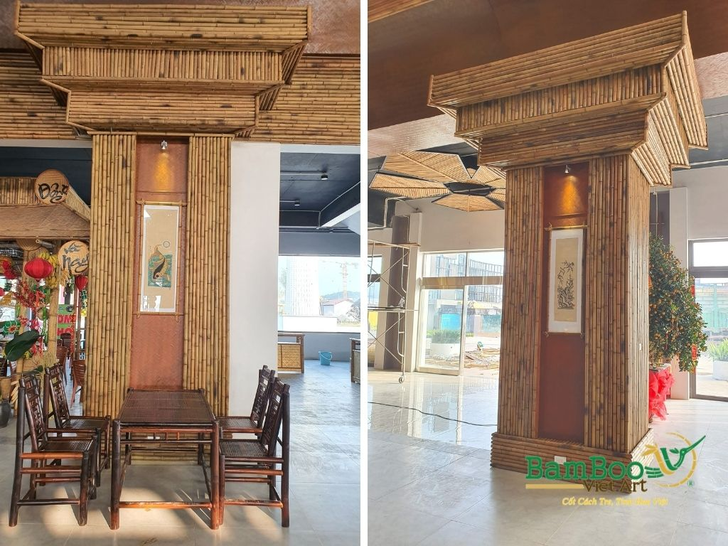 Thiết kế công trình tre nhà hàng dân gian và đương đại - Ảnh: 37
